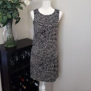 Trina Turk Black White Sleeveless Lined Dress